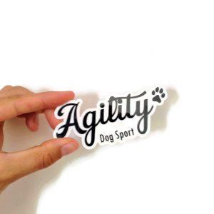 sticker agility by pen ar dog